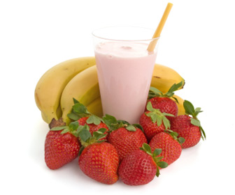 Strawberry Banana Fruit Smoothie!